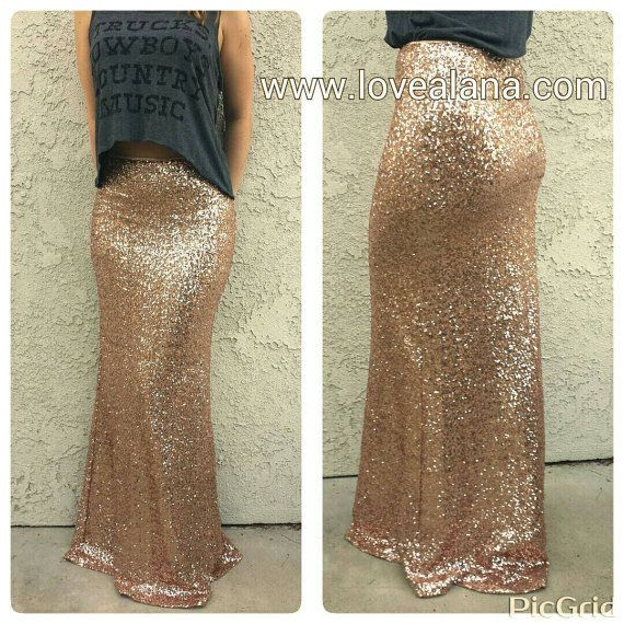 Maxi Matte Champagne -Gorgeous high quality sequins- Long sequined ...
