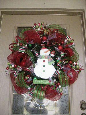 Christmas mesh wreath tutorial