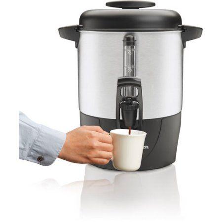 Hamilton Beach 40 Cup Coffee Urn And Hot Beverage Dispenser Silver Model 40514r Walmart Com Coffee Urn Coffee Dispenser Hot Beverage Dispenser