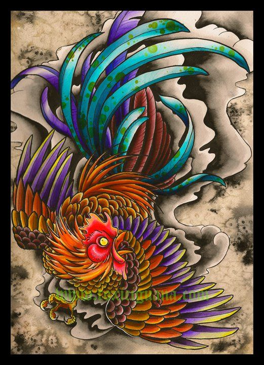 Rooster By Akki On Deviantart Rooster Tattoo Chicken