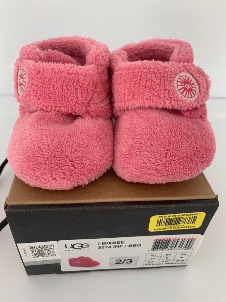 da74c40bf09 UGG Baby Bixbee Crib Booties Bubble Gum SZ 2/3 6-12 months #fashion ...