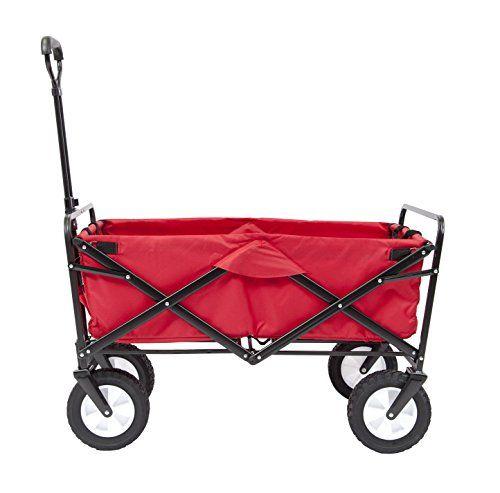 ak sport 0737005 remorque chariot pliable rouge a. Black Bedroom Furniture Sets. Home Design Ideas