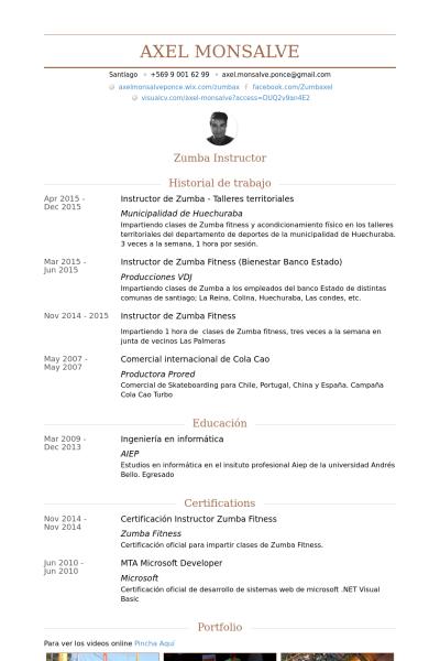 Sample Resume Zumba Instructor Resume Examples Zumba Bewerbungstipps Tipps