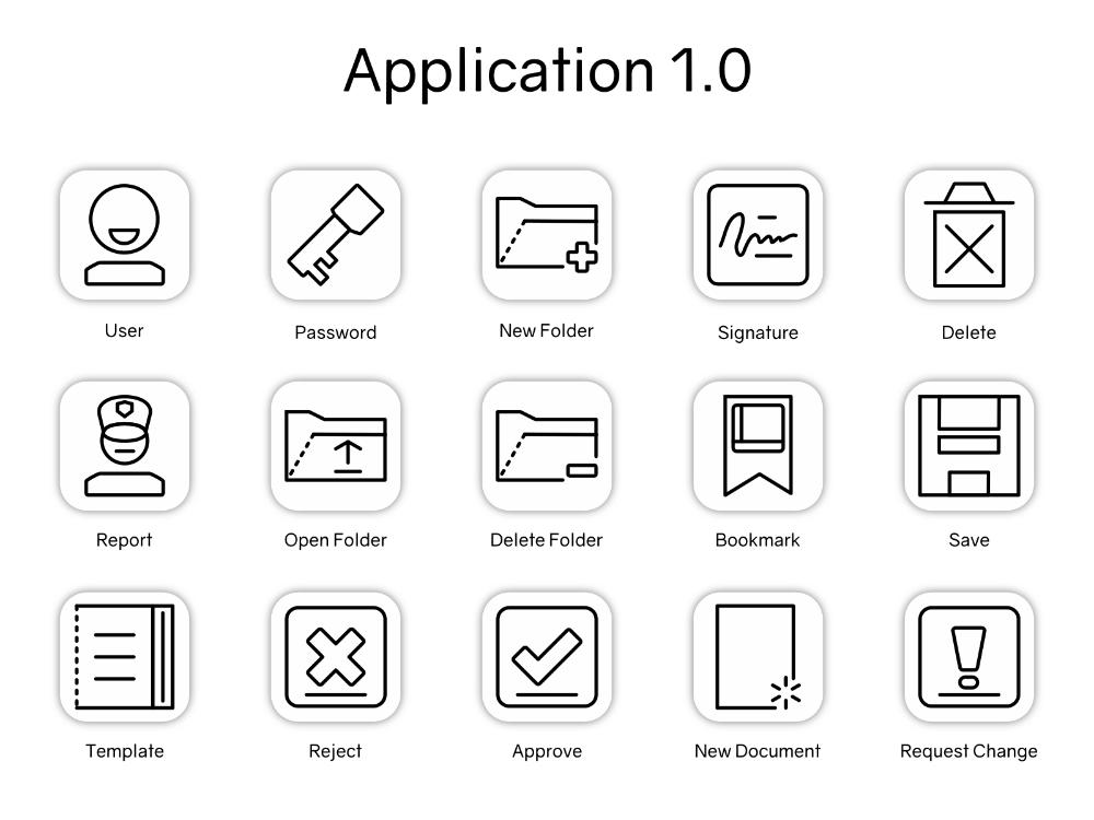 Application Icon Set Design Part 1 Icon Set Design Application Icon Icon Set
