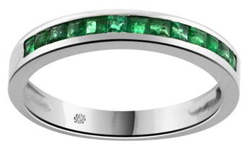 band wedding diamond gold emerald and bands ring pave in anniversary