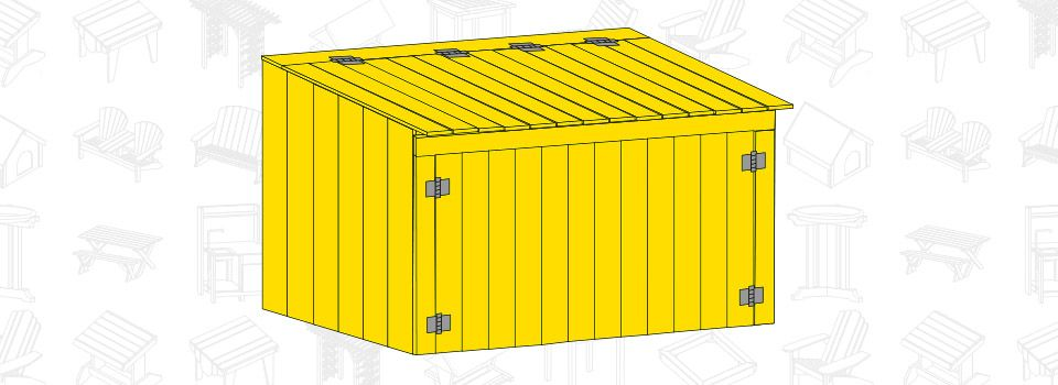 Build A Garbage Can Storage Shed Free Project Plan Hide Those