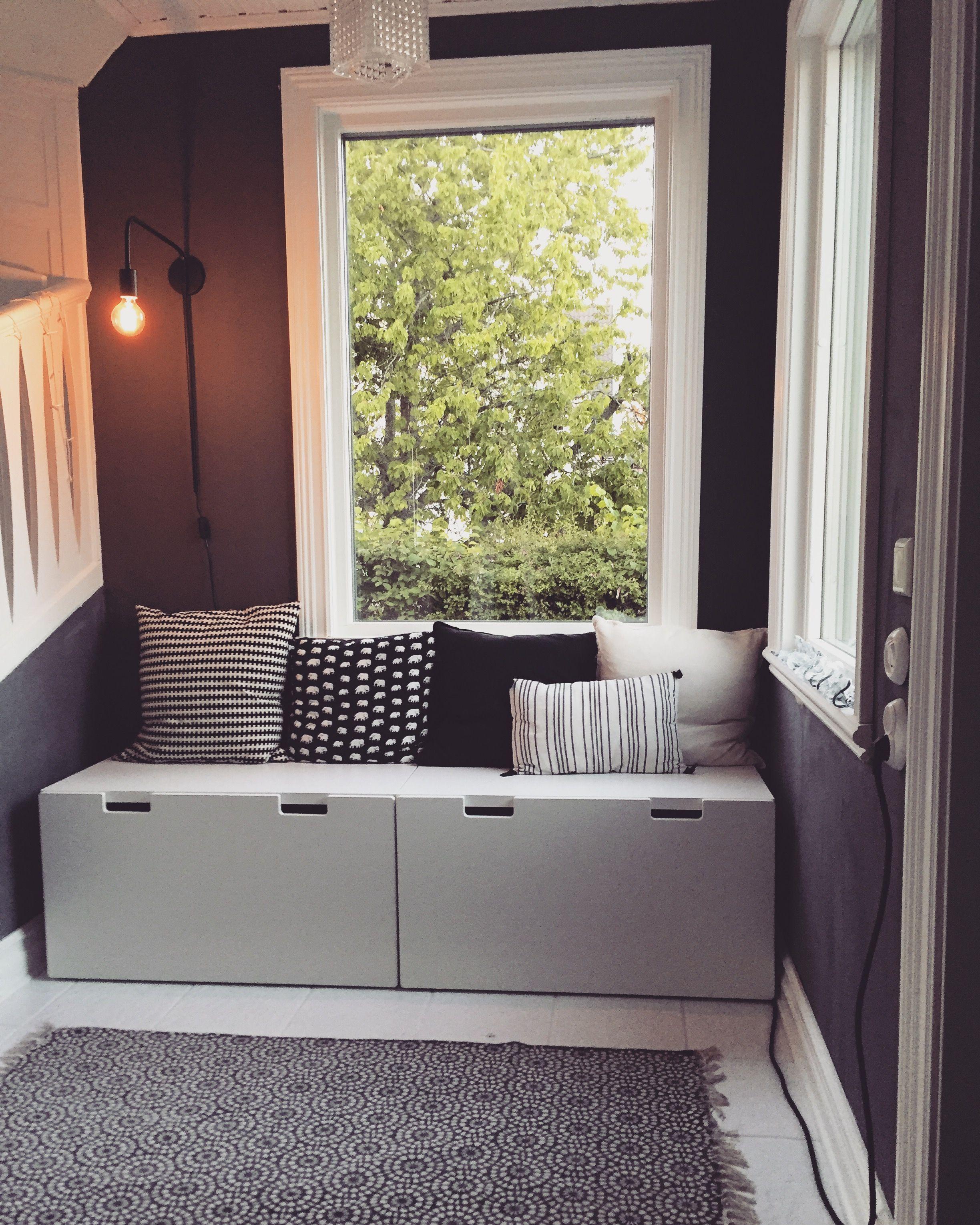 hall hallway ikea stuva v ggar m lade med kalklitir grigio secco mitt hus i 2019. Black Bedroom Furniture Sets. Home Design Ideas