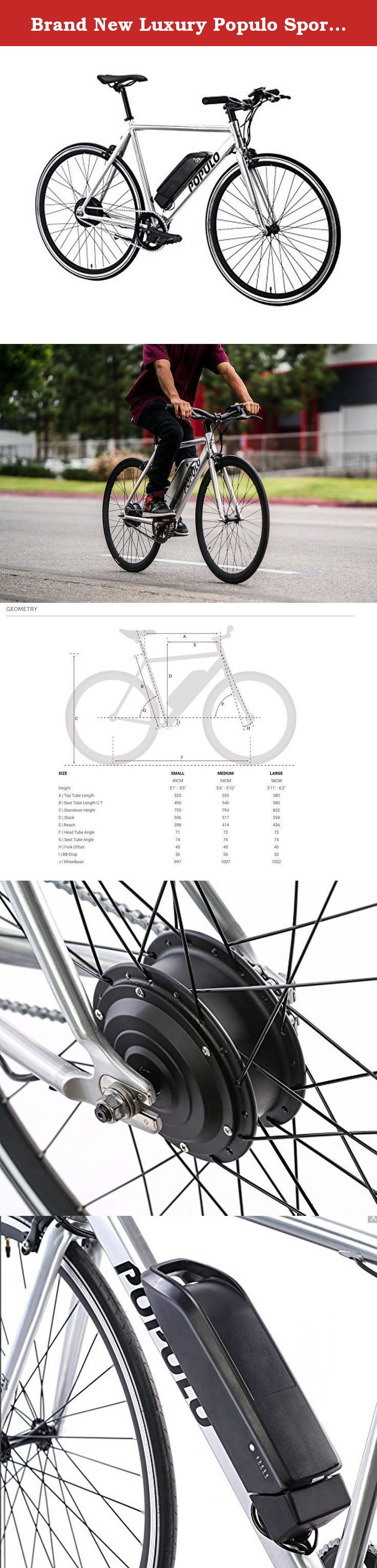Brand New Luxury Populo Sport Electric Bicycle Polished M 54cm Populo Sport Electric Bicycle Bolt To Work Or Play Electric Bicycle Bicycle Electric Bike