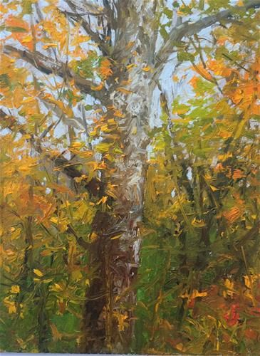 """Daily Paintworks - """"autumn is here"""" - Original Fine Art for Sale - © William Harmuth"""