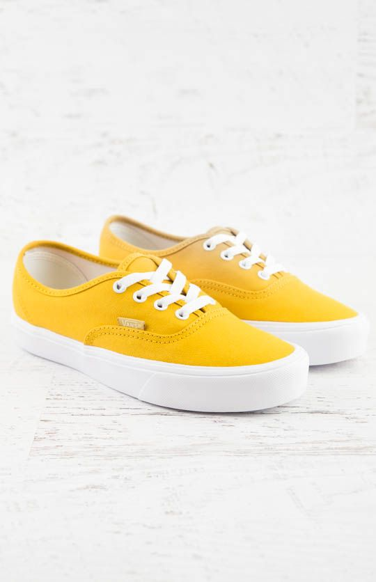 4b8e1f0a22a Vans Authentic Lite Canvas Sneaker - Golden Yellow/True White from  peppermayo.com
