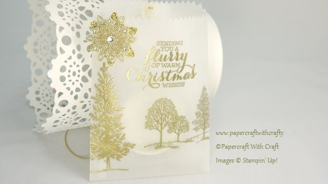 Christmas Treat Bag made with the Mini Treat Bag Thinlits Die from Stampin' Up!