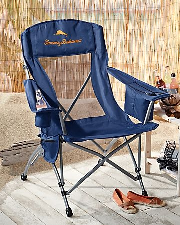 Tommy Bahama Deluxe Navy Event Chair Chair Outdoor