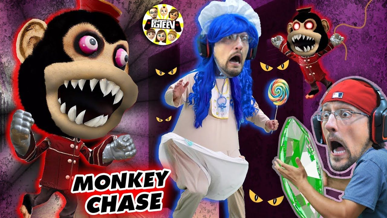 DON'T STOP RUNNING!! Scary Monkey Game! 🙈 (FGTEEV Ape