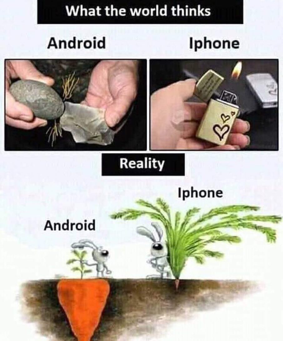 What is your opinion about Android Vs iphone ? Android