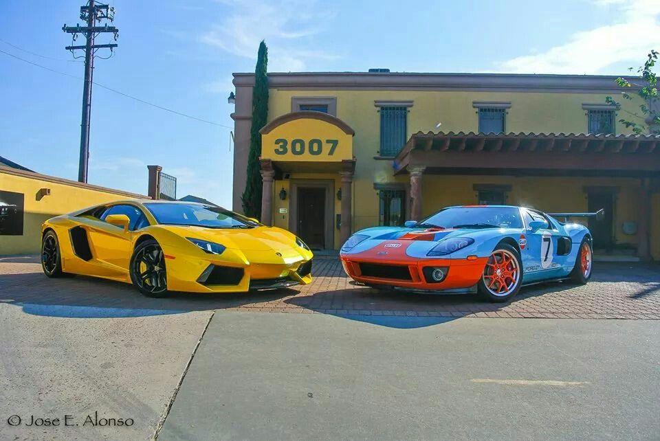 Lamborghini Aventador & Ford GT..