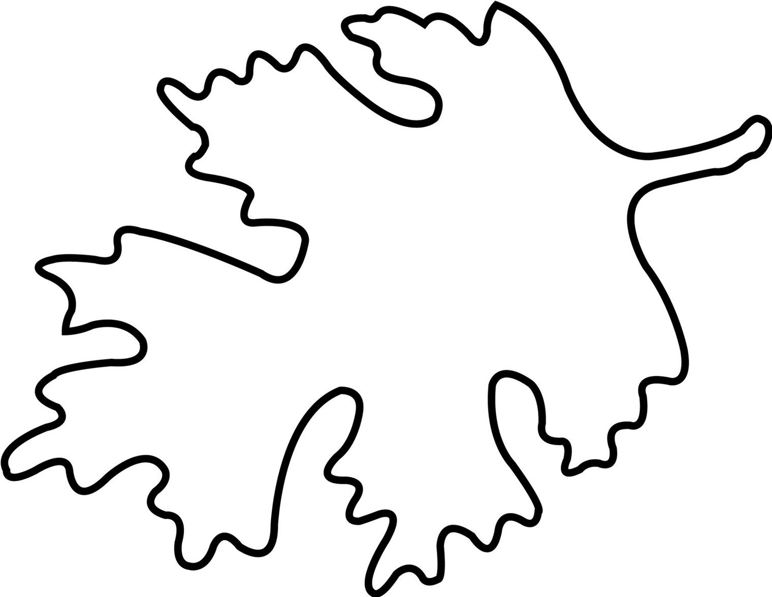 Oak Leaf Outline Printable Clipart Free To Use Clip Art