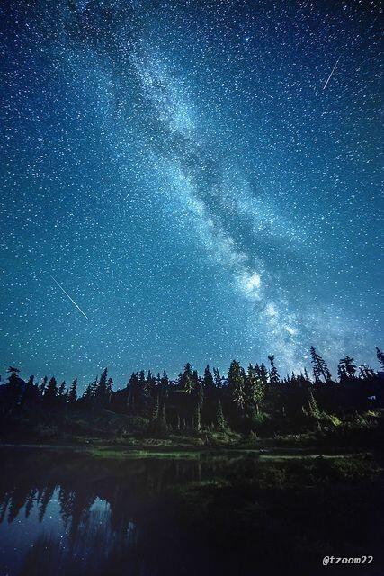 النجوم مصباح السماء ، صورة رائعة لـ نجوم من بحيرة بيكر ...
