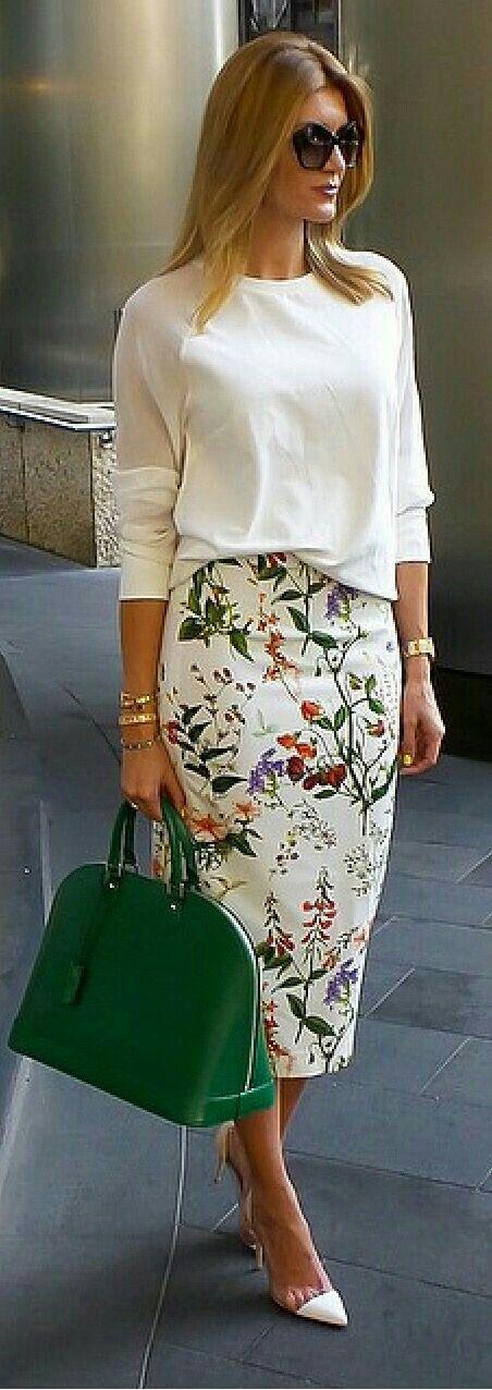 9507089aa Faldas estampadas a flores | Estampados | Vestidos, Moda y Moda para ...