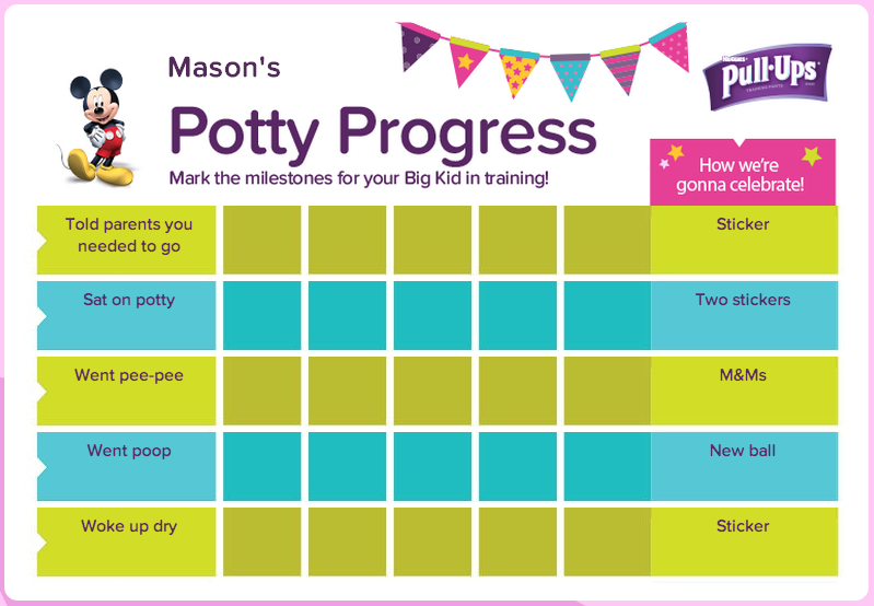 create a personalized potty training chart at the pull ups big kid academy sponsored mc