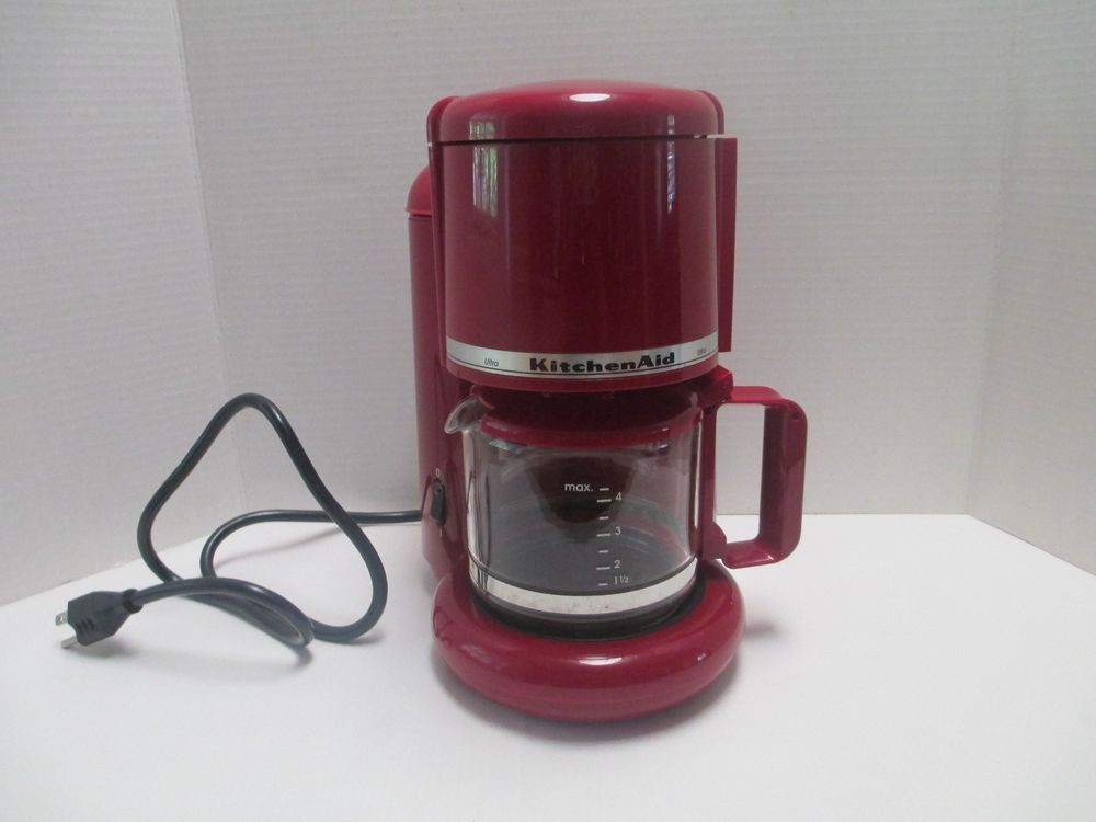 Kitchen Aid Ultra 4 Cup Coffee Tea Maker Empire Red Kcm055er3 Automatic Tea Maker Coffee Tea Kitchen Aid