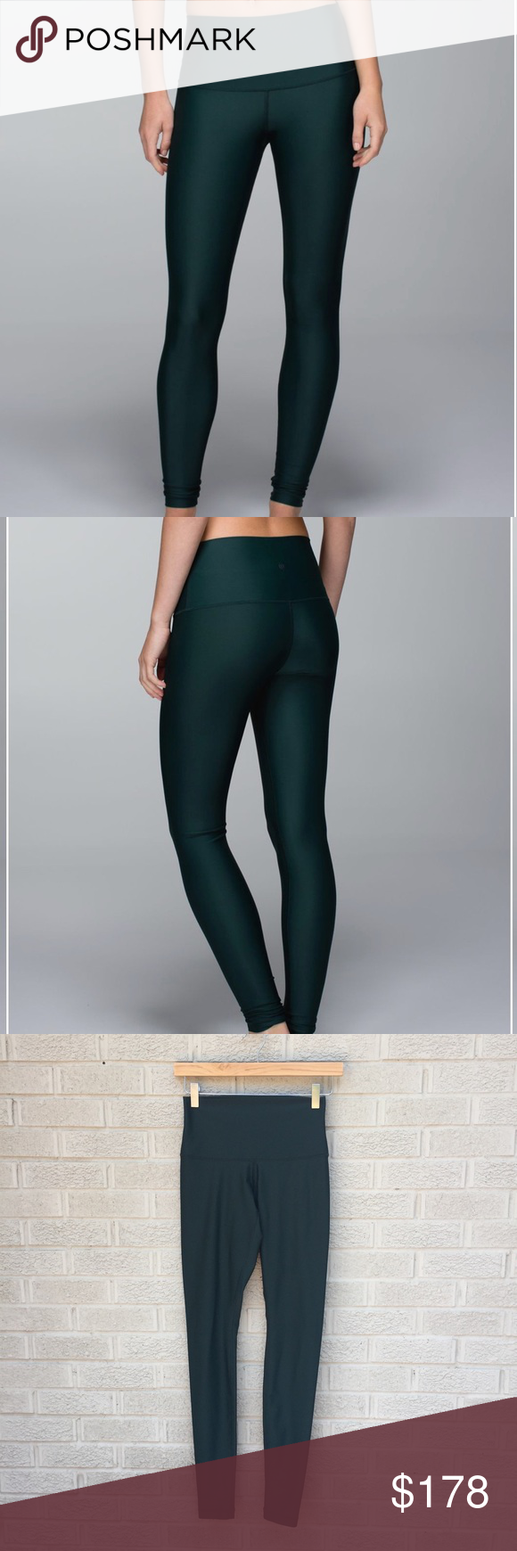 70c824eb3f Lululemon Shine Tight (Roll Down) Fuel Green Lululemon Shine Tight (Roll  Down) in Fuel Green! Love these shiny tights! Wear high or rolled down, ...