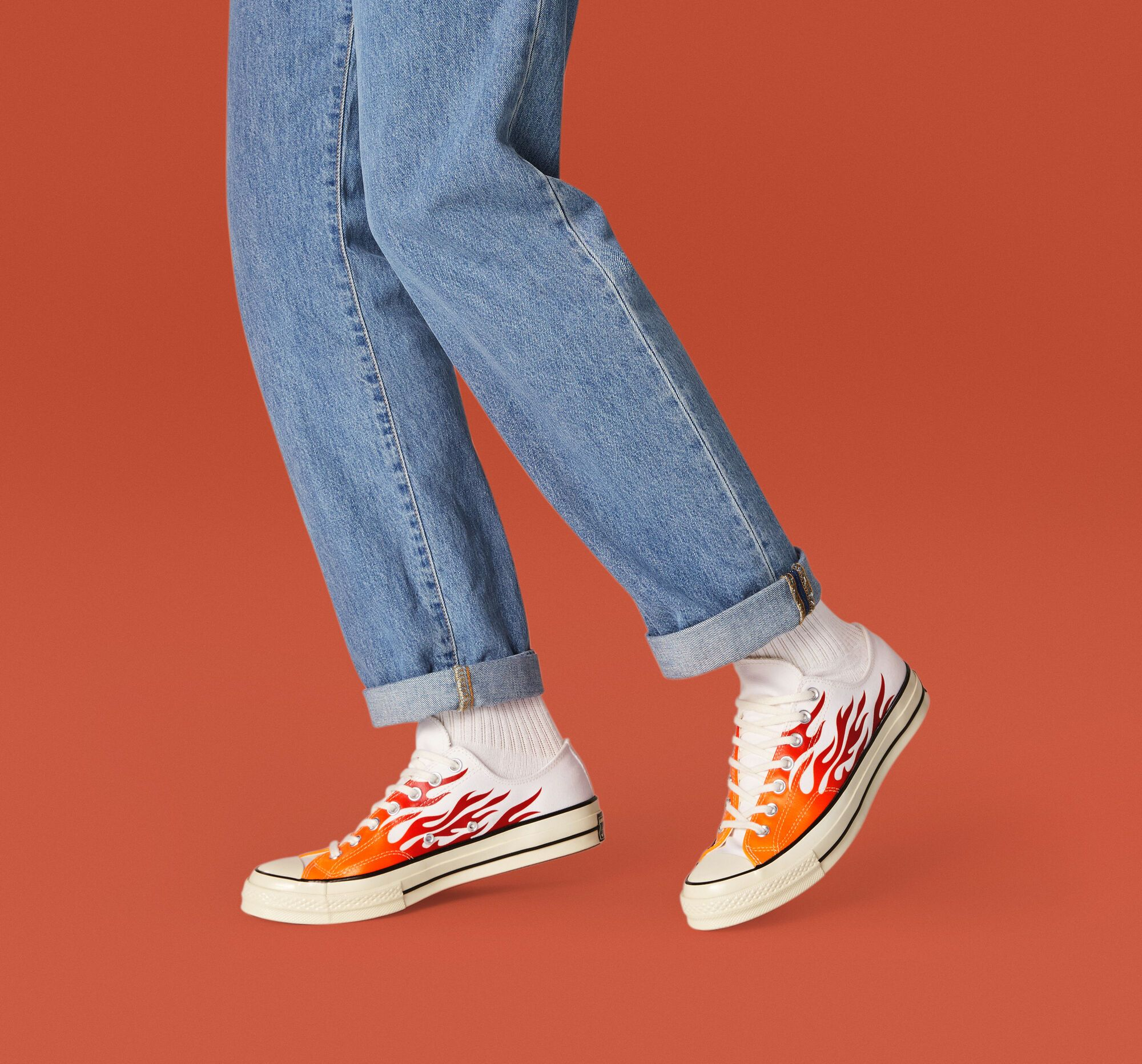 Chuck 70 Archive Print Low Top   Red