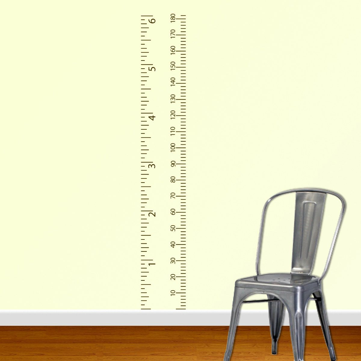 Metric Growth Chart Wall Decal Measurement Chart Child Growth - Ruler growth chart vinyl decal