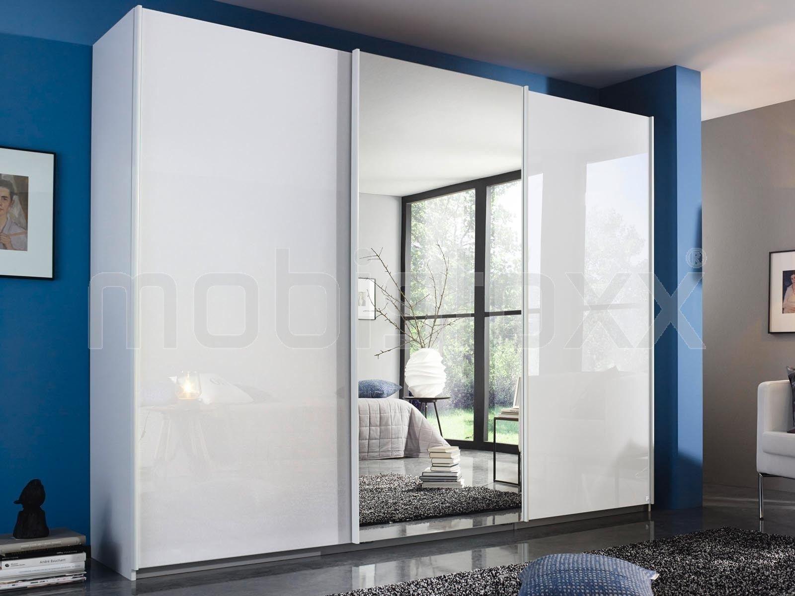Barre Pour Porte Coulissante armoire rasta 3 portes coulissantes blanc/blanc brillant en