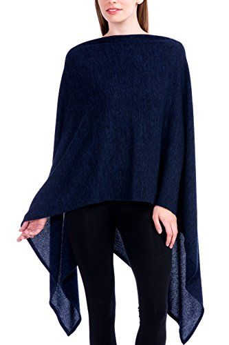 2c950878515 Modern Kiwi Solid Long Knit Asymmetric Wrap Poncho Topper | Cute ...