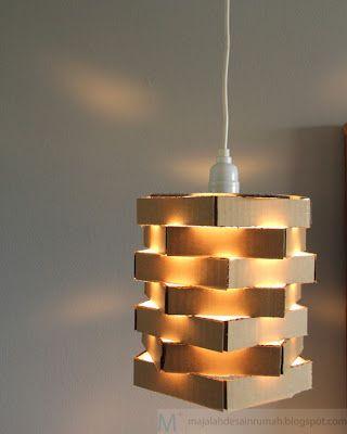 Kerajinan Tangan Dari Kardus Origami Lamp Lampu Gantung Kardus