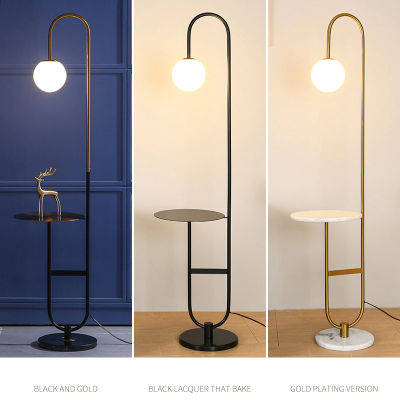 Modern Floor Lamp Led Standing Lamp With Round Table Art Deco Living Room Sofa Reading Li In 2021 Floor Lamps Living Room Modern Art Deco Floor Lamp Modern Floor Lamps