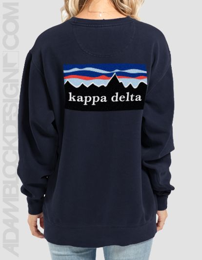 Kappa Delta - Patagonia Crew Neck Sweatshirts from Comfort Colors ...