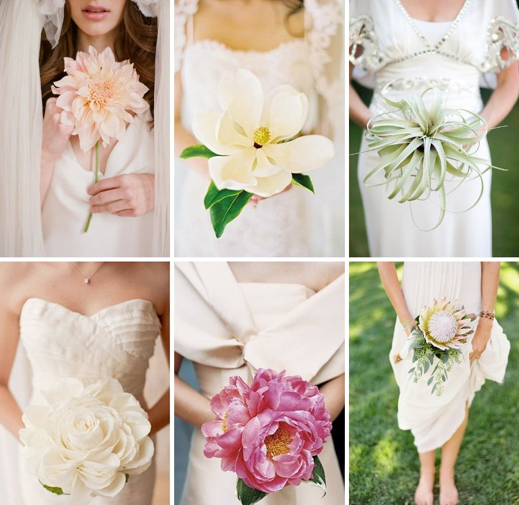 Single Flower Bridal Bouquets | Wedding Gallery