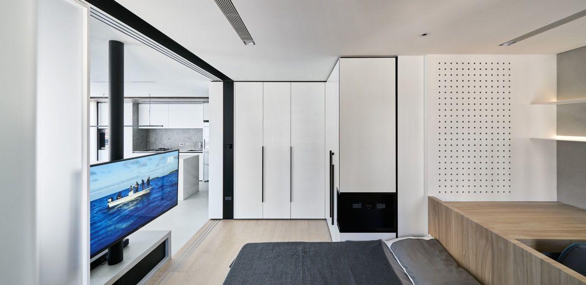 True Open Plan Apartment Under 50 Square Meters 500 Square Feet With Floor Plan Open Plan Apartment Home Interior Design