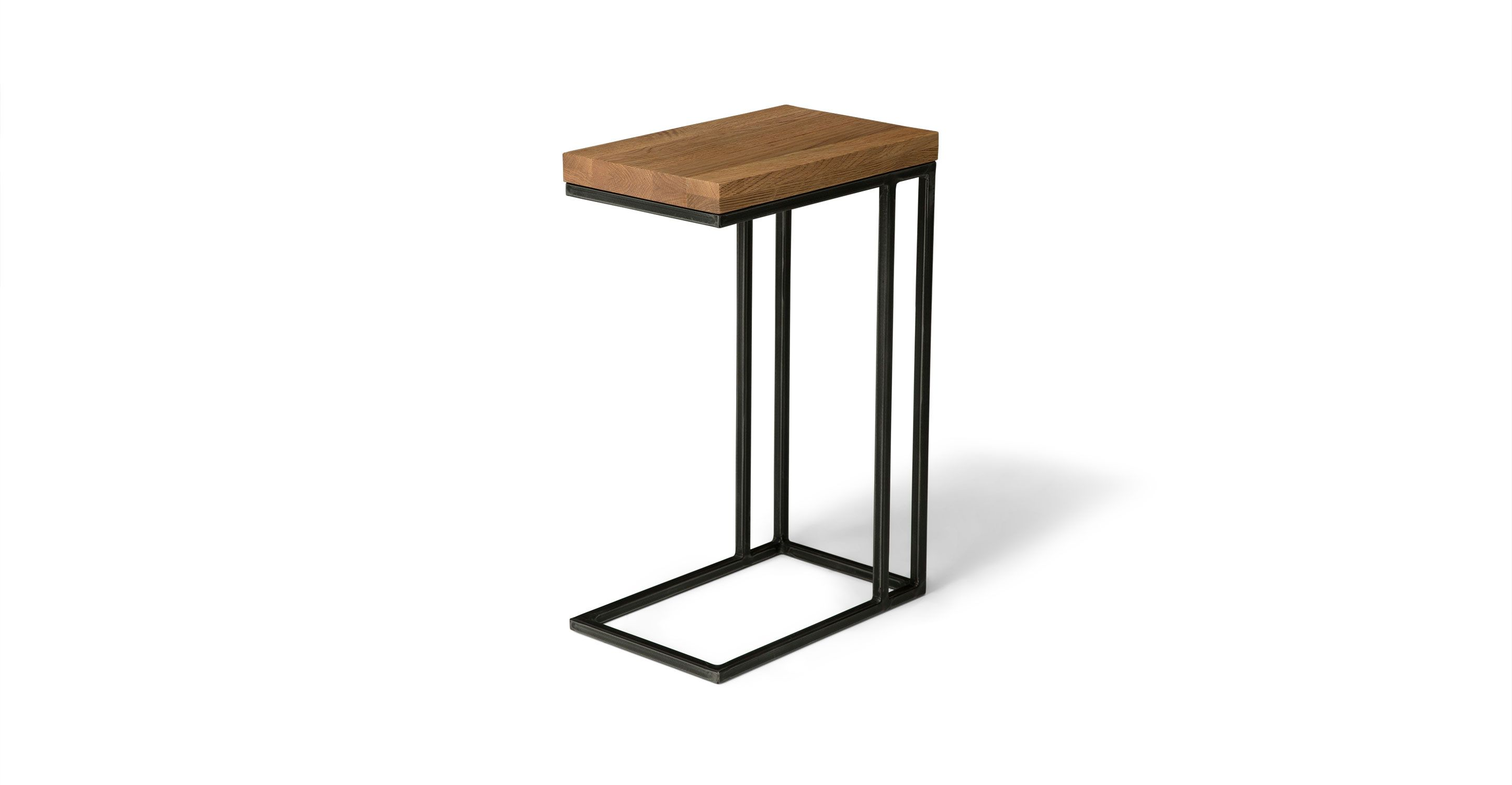 Taiga Oak Side Table Oak Side Table Side Table Metal Side Table