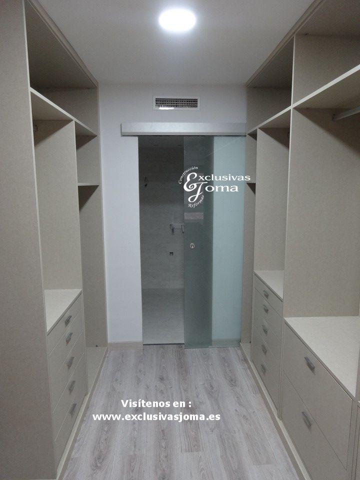 Realizaci n de armario vestidor de 14m2 en habitaci n for Armarios habitacion puertas correderas