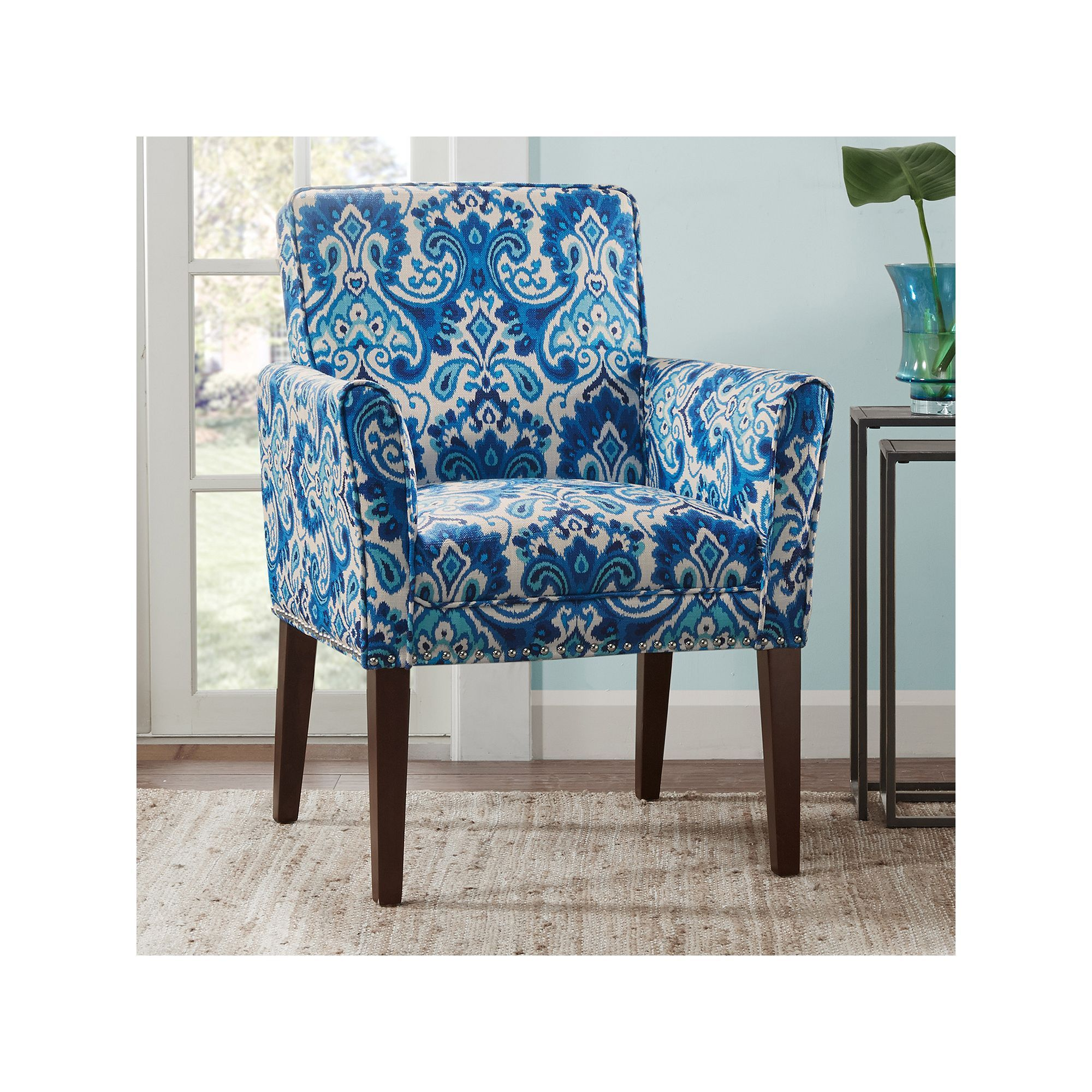 Madison Park Tyler Arm Chair Blue With Images Accent