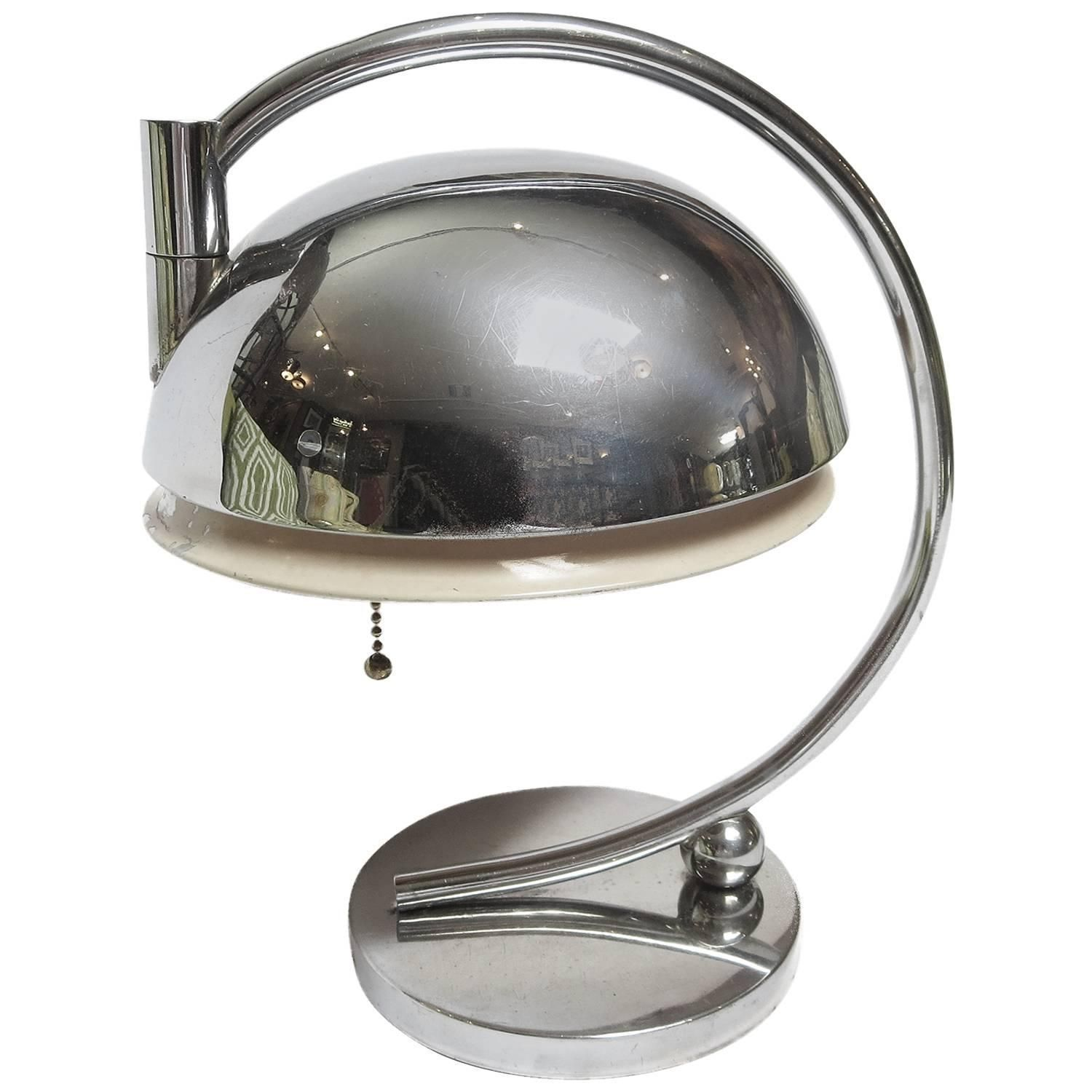 Art Deco Chrome Table Lamp by Gilbert Rohde | From a unique collection of antique and modern table lamps at https://www.1stdibs.com/furniture/lighting/table-lamps/