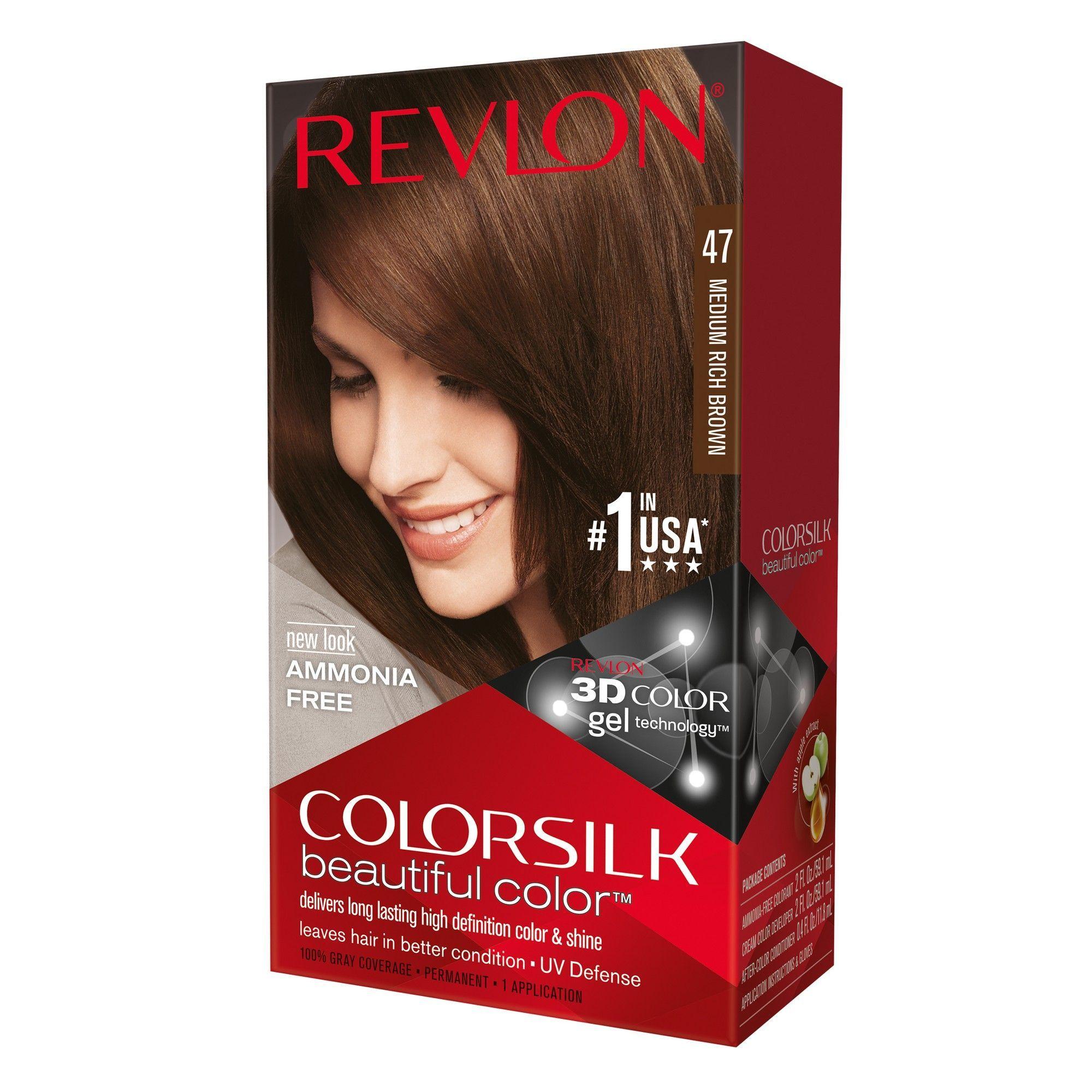 Revlon Colorsilk Hair Color Medium Rich Brown 1 Kit Products