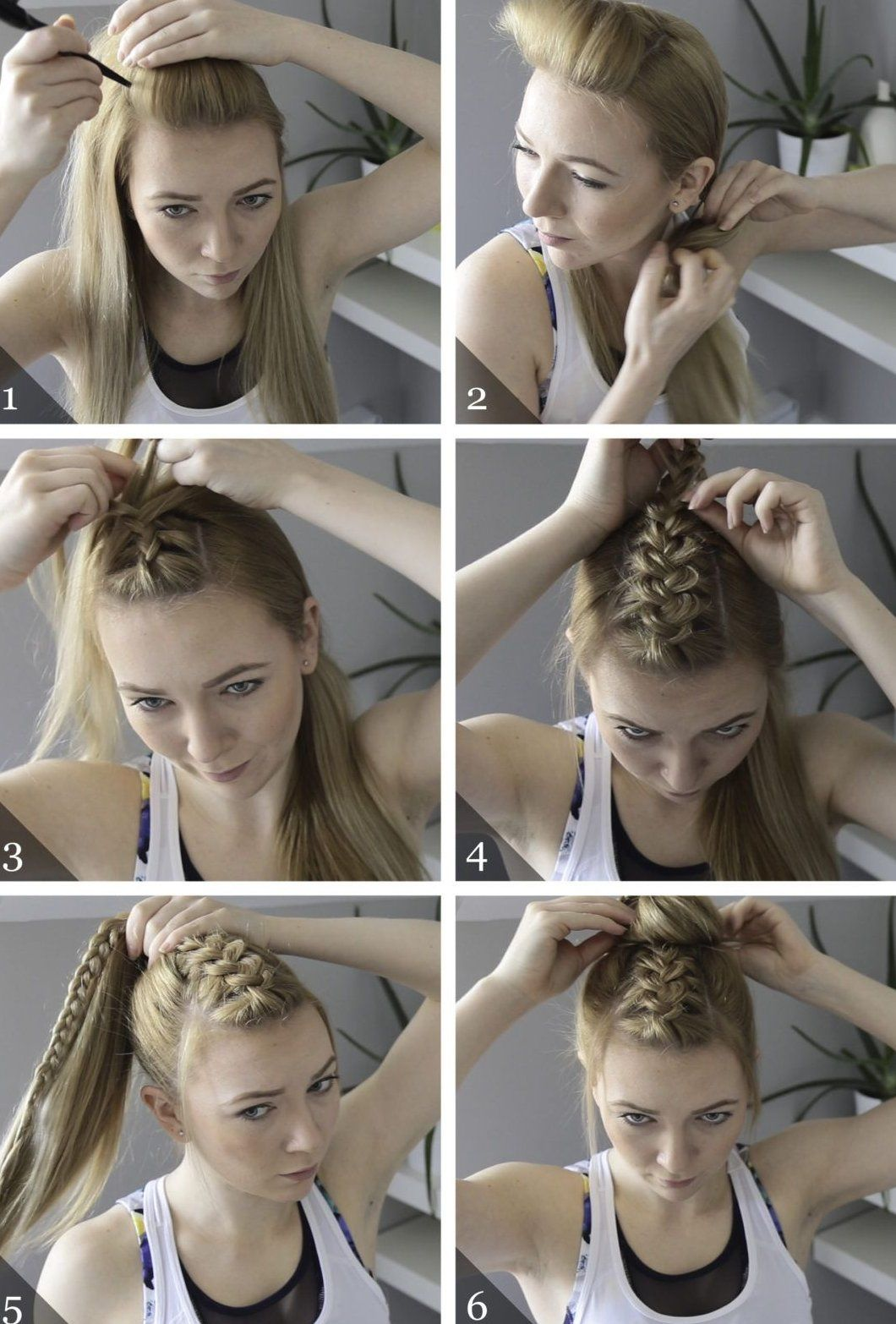 High Pony With Braid This Is An Easy Way To Dress Up A Simple Pony Great For A Day When Sporty Hairstyles Volleyball Hairstyles Easy Hairstyles For Long Hair