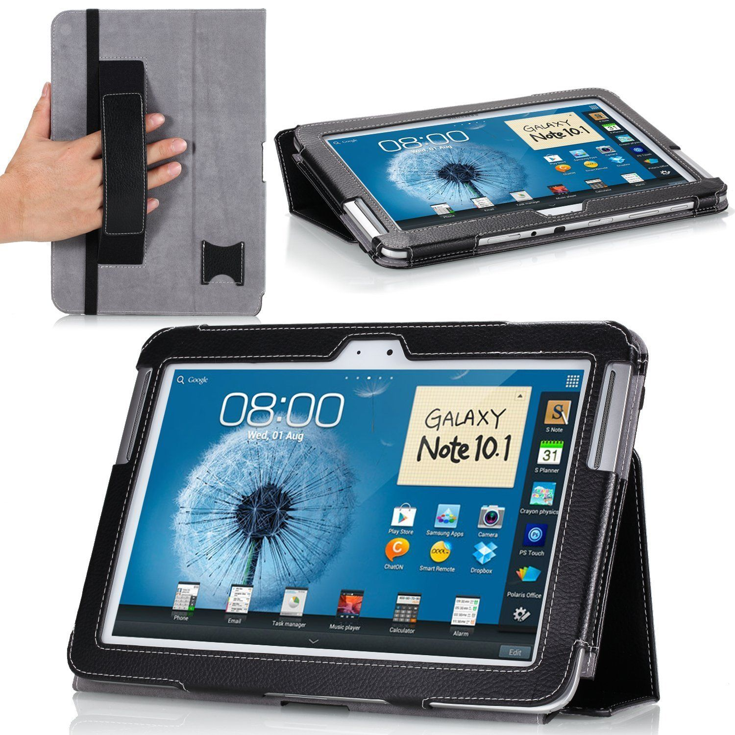 Amazon Com Moko Slim Case For Samsung Galaxy Note 10 1 Tablet Black Computers Accessories Tablets Electronica