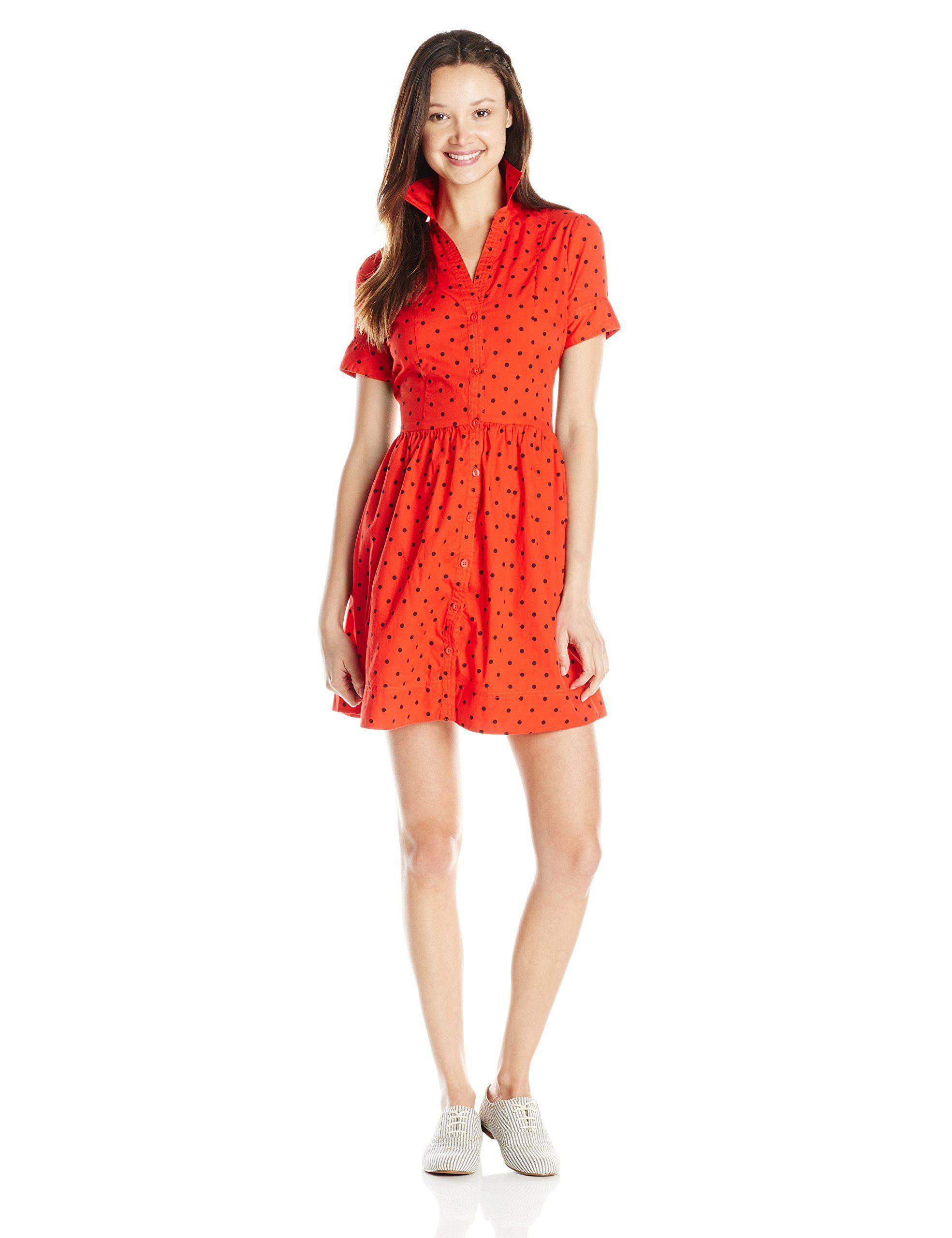 U.S. Polo Assn. Junior's Printed Poplin Dress | Amazon.com