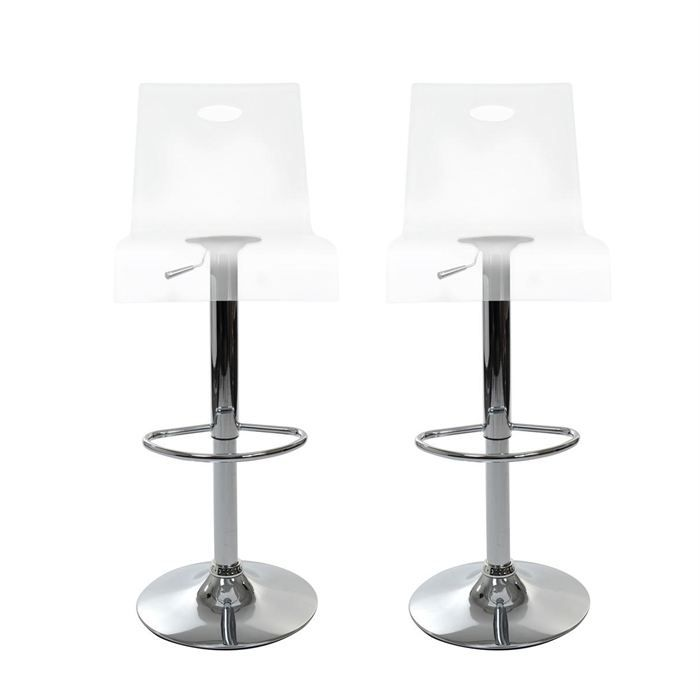 tabourets de bar design saturne transparent x 2 | poufs, 2! and x... - Chaise De Bar Transparente