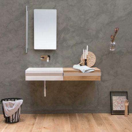 ever Link Badezimmerschrank mit weissem Stützgriff 60cm breit - badezimmerschrank 60 cm breit