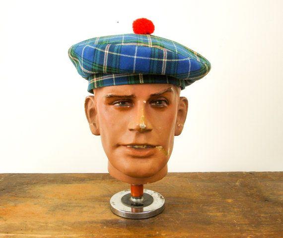 c62319d06d813 Vintage Mens Tam O'Shanter Hat / Bonnet Scotland, Scottish Mad Men ...