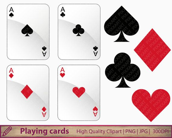 Playing Cards Clipart Card Suits Png Casino Games Poker Etsy Clip Art Cards Playing Cards