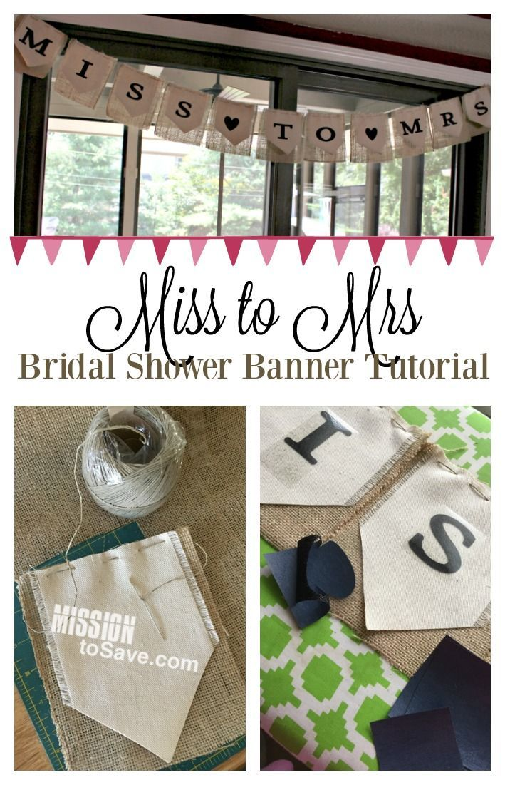 New DIY Miss to Mrs Banner for Bridal Shower Decoration | Bridal  CL39