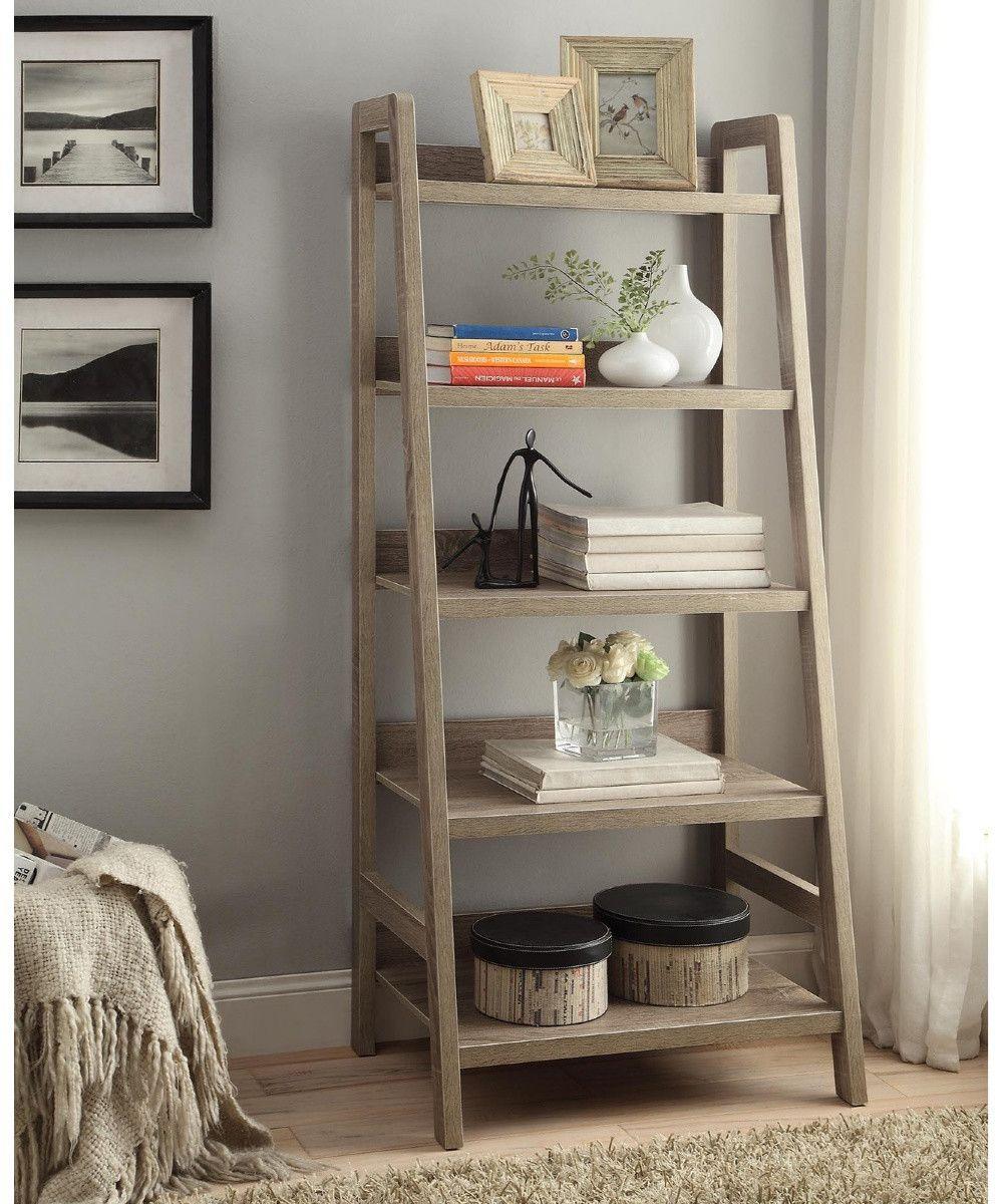 Ladder Bookcase Ladder Shelf Decor Bookshelves Diy Leaning
