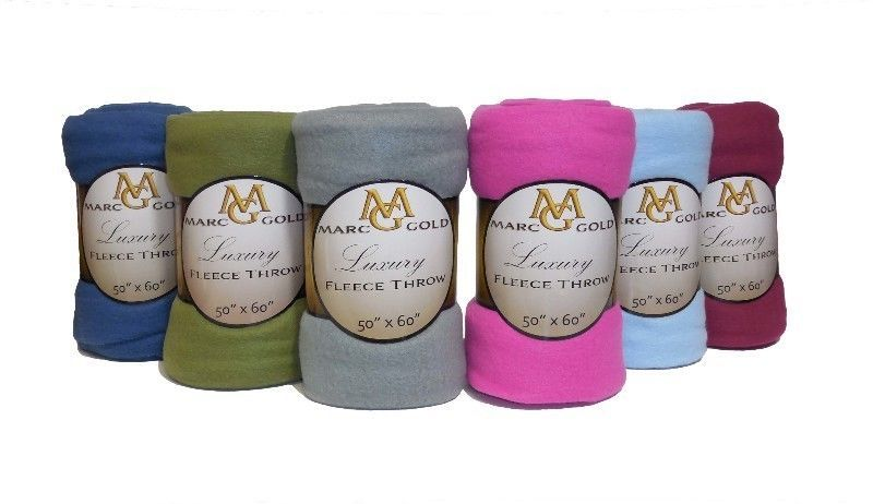 "Bulk Throw Blankets Lot Of 48 Marc Gold 50""x60"" Fleece Blankets Wholesale Bulk  Blanket"