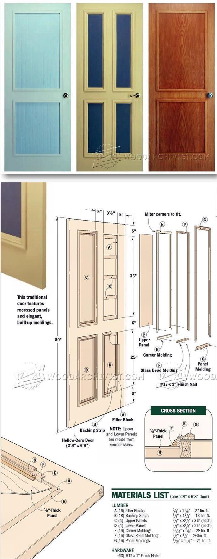 Making Interior Doors Door Construction And Techniques Woodarchivist Com Woodworking Diy Remodel Woodworking Plans